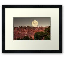 Super Full Moon rising Framed Print
