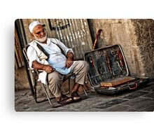 Outside a mosque Canvas Print