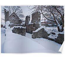 Snow Laden Ruin Poster