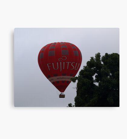 Balloon over my suburb. Canvas Print