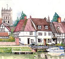 Tewkesbury from the river by doatley