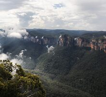 Grose Valley from Anvil Rock NSW Australia by Bev Woodman