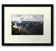 Grose Valley from Anvil Rock NSW Australia Framed Print