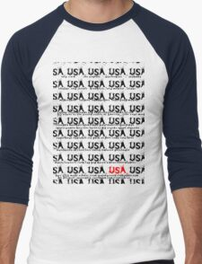 usa california tshirt by rogers bros Men's Baseball ¾ T-Shirt