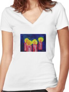 Light in the Darkness Women's Fitted V-Neck T-Shirt