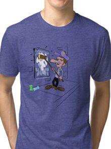 usa new york yeti tshirt by rogers bros co Tri-blend T-Shirt