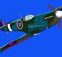 Supermarine Spitfire, T-shirt, etc. design by Dennis Melling