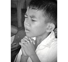 Earnest Prayer Photographic Print