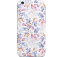 Branch with delicate flowers.  Watercolor seamless pattern iPhone Case/Skin