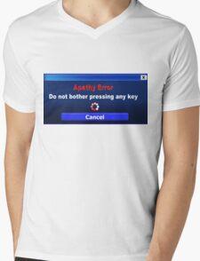 Computer Screen Messages... Apathy Error Mens V-Neck T-Shirt