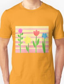 Flower Bed On Baby Pink T-Shirt