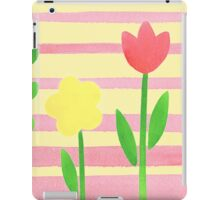 Flower Bed On Baby Pink iPad Case/Skin