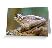 Green and gold Bell Frog Greeting Card