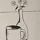 cup and vase by PeterCannonArt