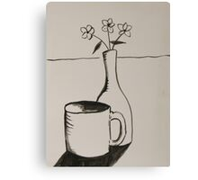 cup and vase Canvas Print