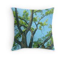 Ancient Walnut Tree Throw Pillow