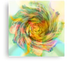 Surrealistic Rose, out in the Garden. Canvas Print