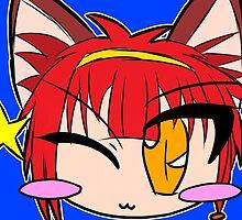 Cat Girl is Winking by Karto