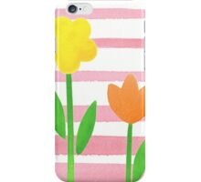 Flowers Garden On Baby Pink iPhone Case/Skin