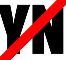 Say No To Sync Sticker