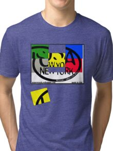 usa new york tshirt by rogers bros co Tri-blend T-Shirt