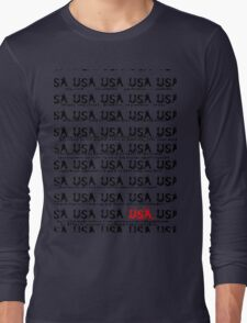 usa new york tshirt by rogers bros co Long Sleeve T-Shirt