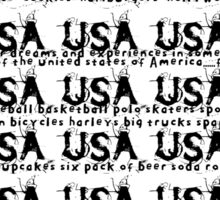 usa new york tshirt by rogers bros co Sticker
