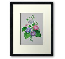 A Morning Glory Framed Print