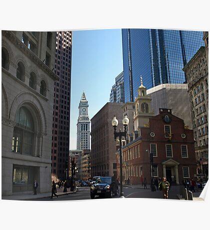 Down Town Boston. Poster