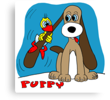 Rick the chick & Friends - Puppy Canvas Print