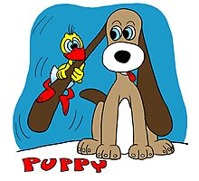 Rick the chick & Friends - Puppy Photographic Print