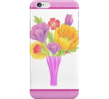 Flowers In The Vase On Baby Pink iPhone Case/Skin
