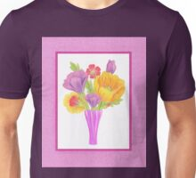 Flowers In The Vase On Baby Pink Unisex T-Shirt