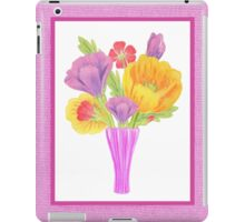 Flowers In The Vase On Baby Pink iPad Case/Skin