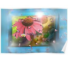 Flower shadowbox Poster