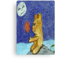 bear with a happy life Canvas Print