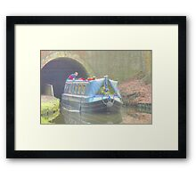 Exiting The Tunnel, Llangollen Canal Framed Print