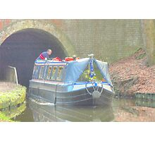 Exiting The Tunnel, Llangollen Canal Photographic Print