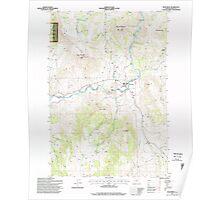 USGS Topo Map Oregon Monument 280784 1995 24000 Poster