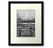Moody Swaledale Framed Print