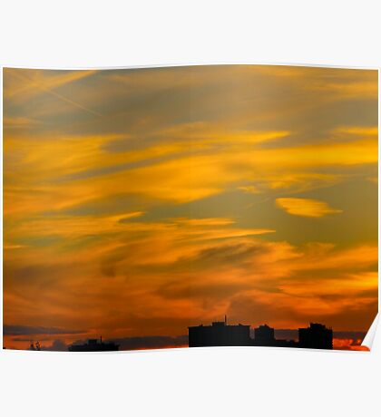 Drizzled toffee sunset Poster
