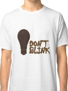 Dont blink dr who inspired geek funny nerd Classic T-Shirt