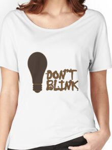 Dont blink dr who inspired geek funny nerd Women's Relaxed Fit T-Shirt