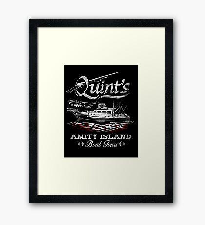 Quint's Boat Tours Framed Print
