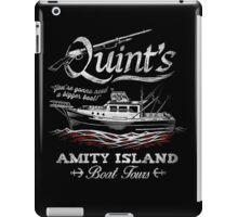 Quint's Boat Tours iPad Case/Skin