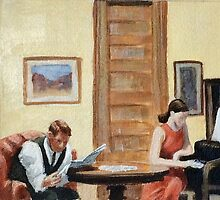 After Hopper Room in New York by Carole Russell