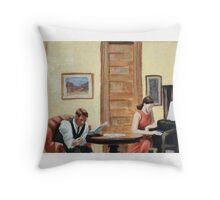 After Hopper Room in New York Throw Pillow
