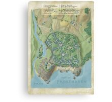 City of Frostahven map Canvas Print