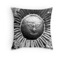 Sunflower sculpture. Throw Pillow