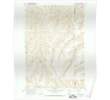 USGS Topo Map Oregon Franklin Hill 279946 1968 24000 Poster
